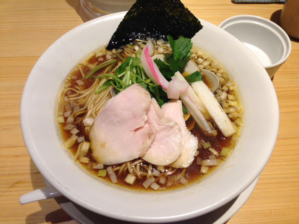 Ginza Noodles むぎとオリーブ@銀座『蛤SOBA』
