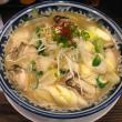 下仁田葱と牡蠣の味噌麺
