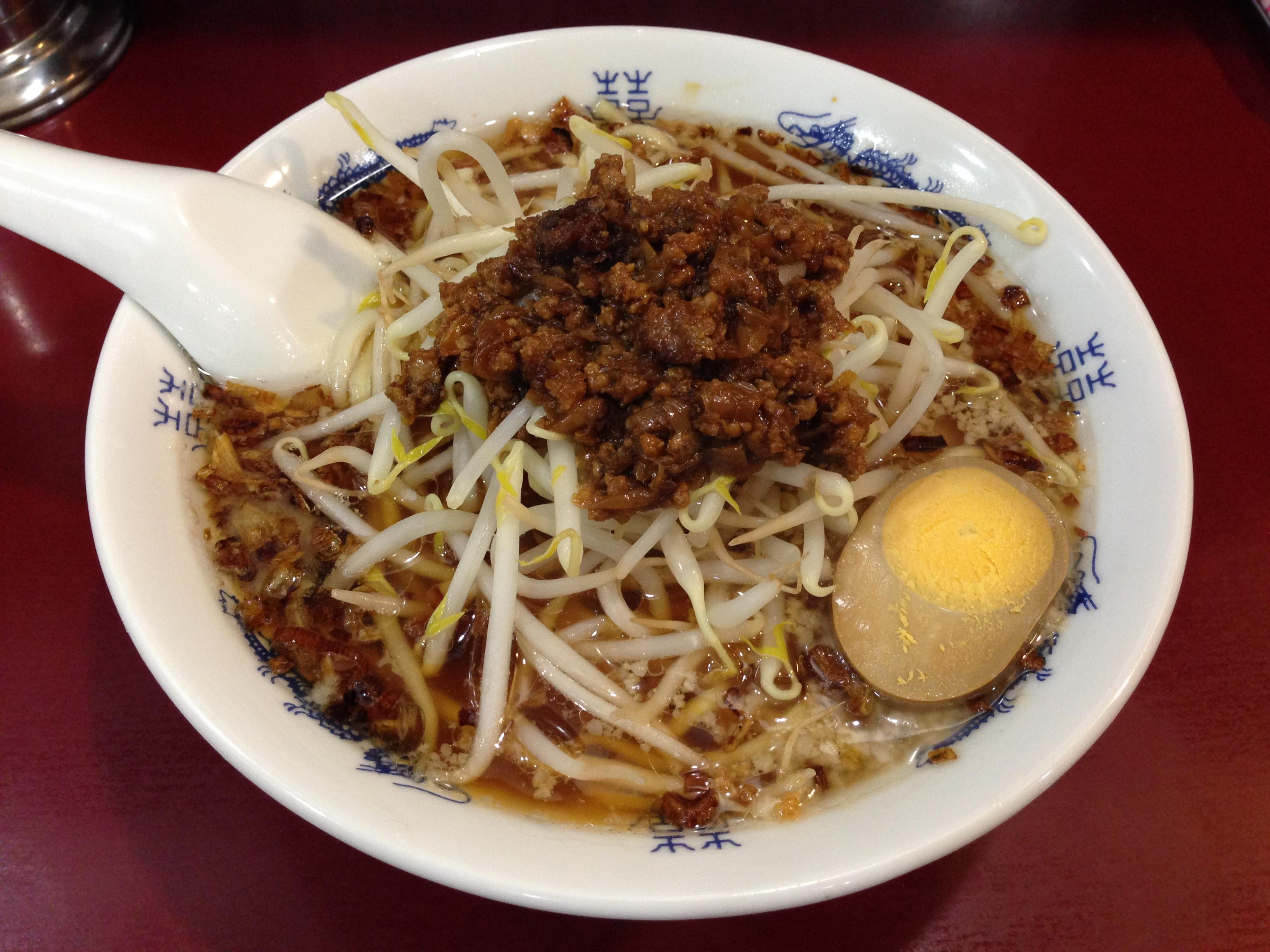 揚げ葱中華麺